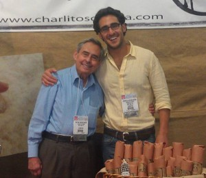 Charlito and dad at Fancy Food Show