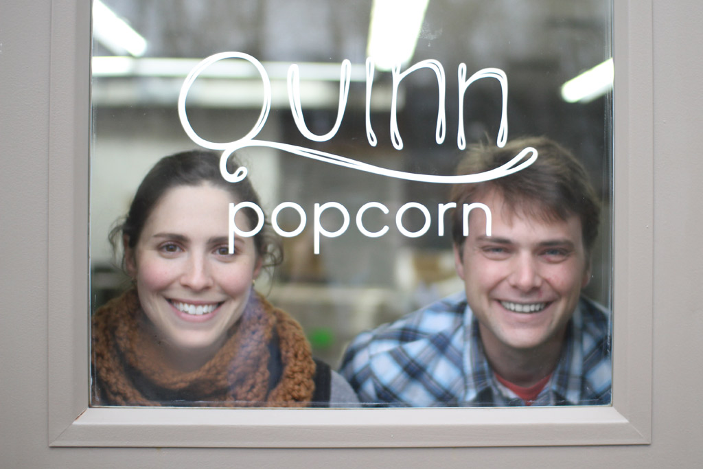 Kristie and Coulter of Quinn Popcorn