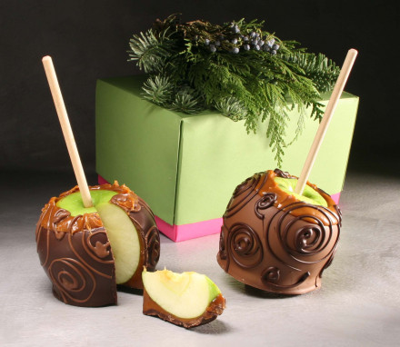 Belgian Chocolate & Caramel Organic Apple Duo