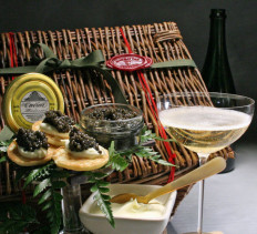Caviar Chests with Champagne
