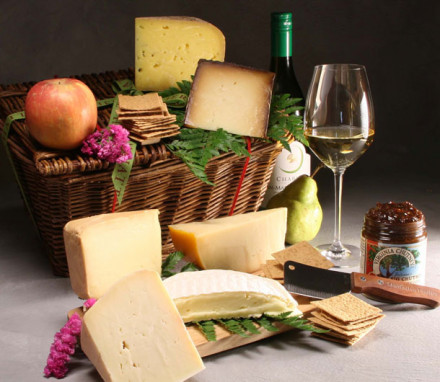 Farmhouse Cheese and Wine Basket