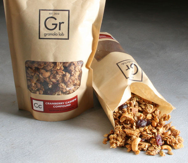 Cranberry cashew granola for Healthwise fish oil