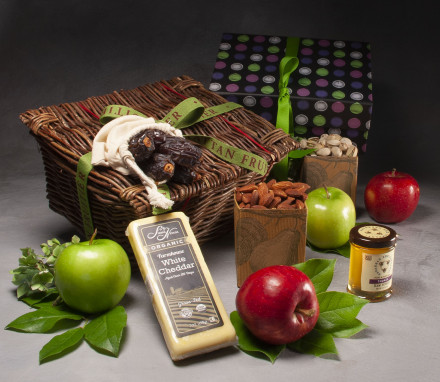 Kosher Cheese & Apple Savory Snack Basket $70