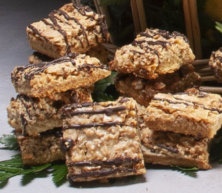 Chocolate Drizzled Nut Bars $20