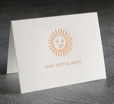Feel Better Soon Letterpress Card $8