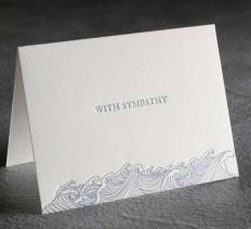 Sympathy Letterpress Card $10