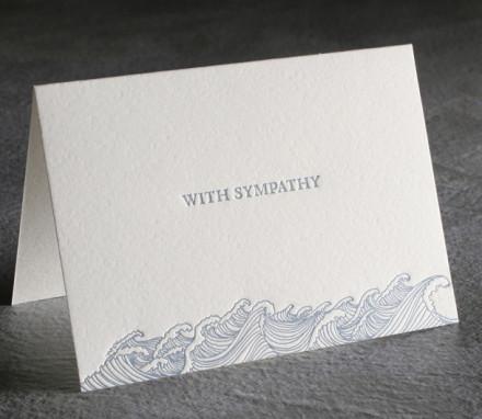 Sympathy Letterpress Card $8