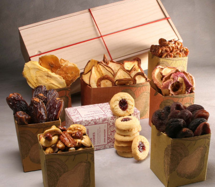 Organic Dried Fruit, Nut and Cookie Box (8 items)