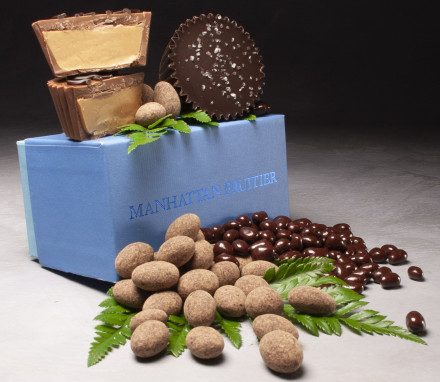 Chocolate Trio in a Blue Box