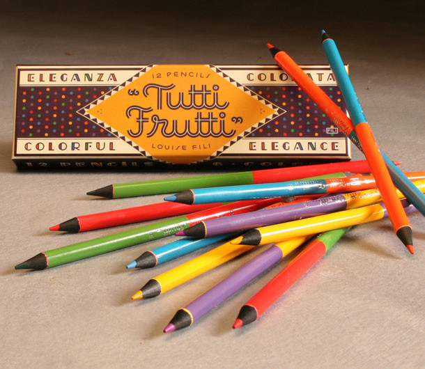 Tutti Frutti Colored Pencils by Louise Fili