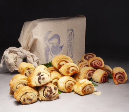 Rugelach Nosher set 3 boxes  with 9 pieces in each box