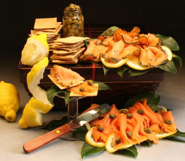 Smoked Salmon and Gravlax Basket