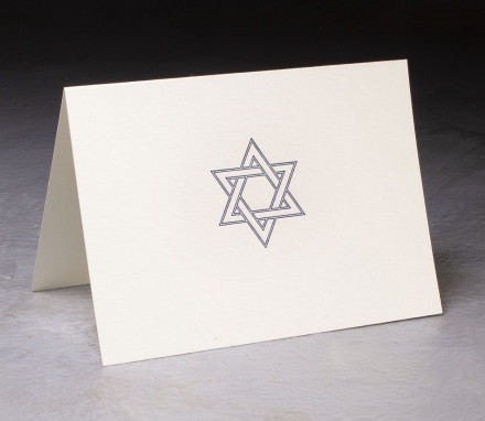 Star of David Letterpress Card $10