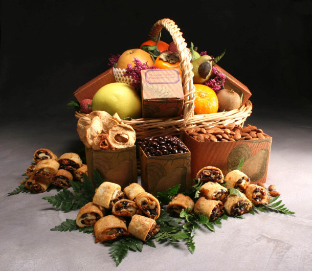 Sweet Sentiments Basket with Rugelach