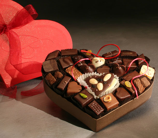 Valentine's Heart-Shaped Chocolate Box by LA Burdick $69.50