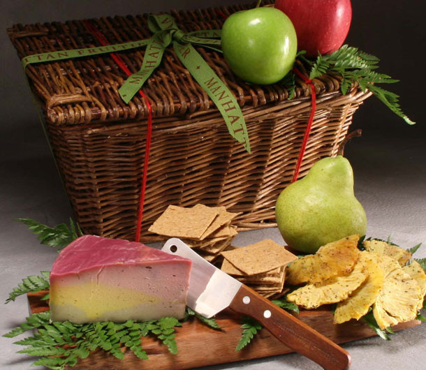 Vegan Rainbow Cheese Basket