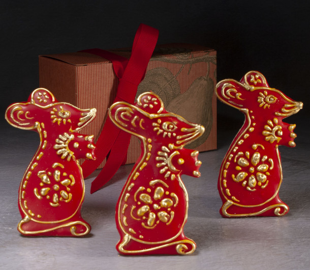 Year of the Rat Lunar New Year Cookies