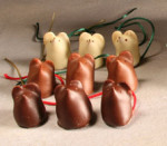 Chocolate Mice in a Wooden Box (9 mice)